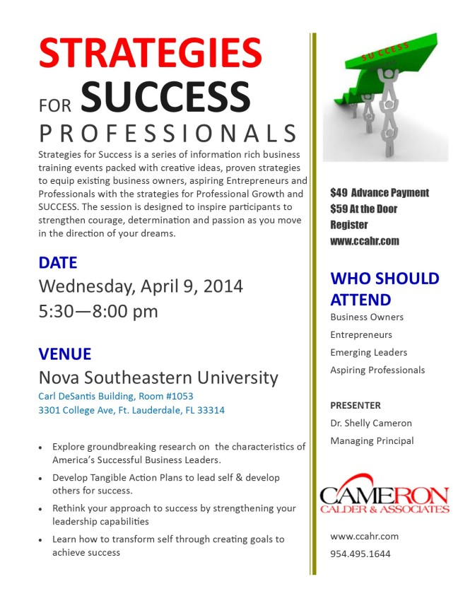 SUCCESS STRATEGIES SEMINAR