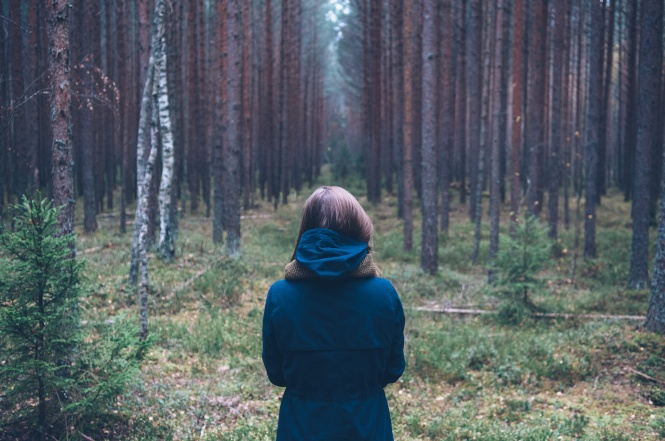 woman in woods pic