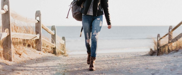 woman in black full zip jacket