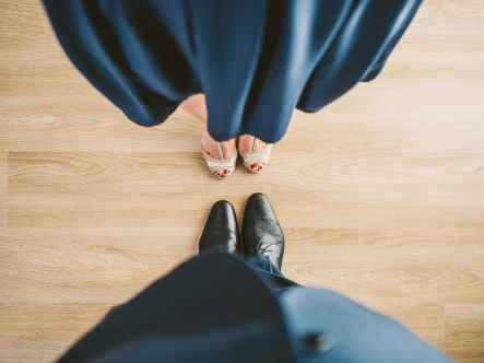 suit couple shoes clothes